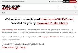 Newspaper archive