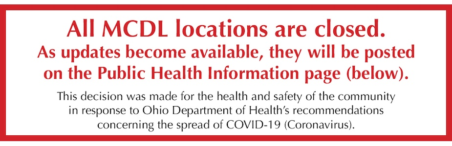Medina County District Library Closing Saturday, March 14 – 5:00 pm in response to the COVID-19 (Coronavirus) Pandemic